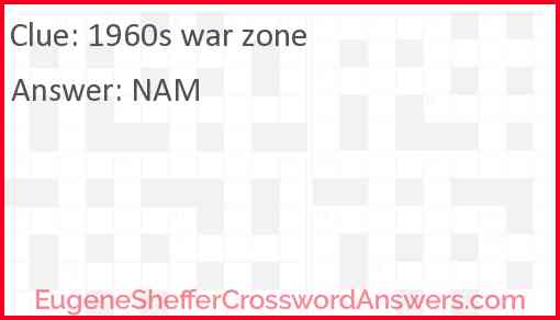 1960s war zone Answer