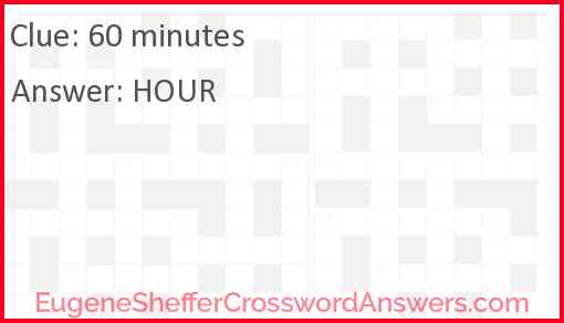 60 minutes Answer