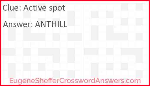 Active spot Answer