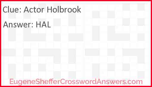 Actor Holbrook Answer