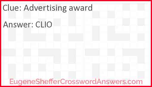 Advertising award Answer