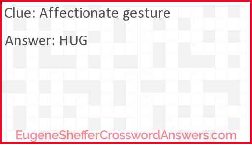Affectionate gesture Answer