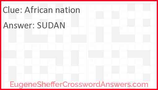 African nation Answer