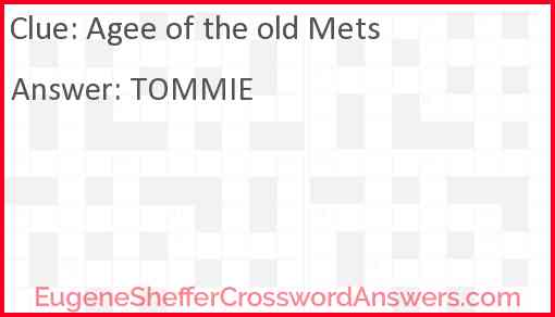Agee of the old Mets Answer