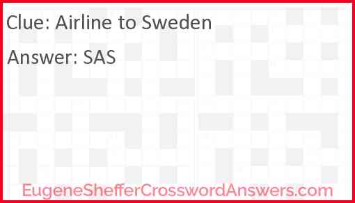 Airline to Sweden Answer