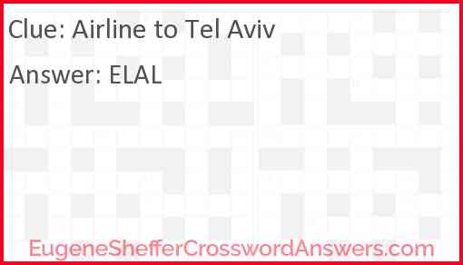 Airline to Tel Aviv Answer