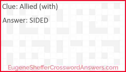 Allied (with) Answer
