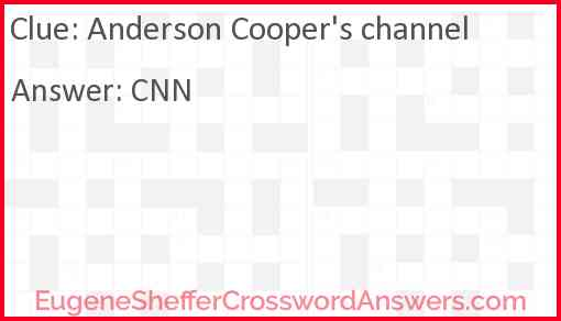 Anderson Cooper's channel Answer
