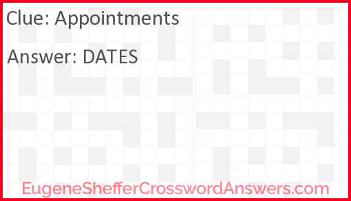 Appointments Answer