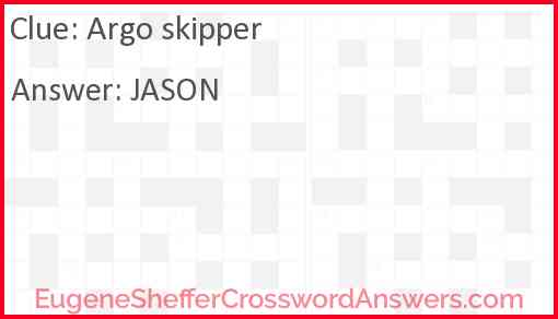 Argo skipper Answer