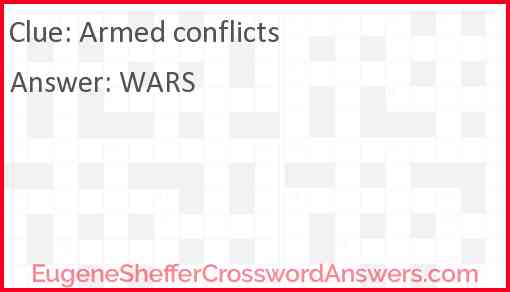 Armed conflicts Answer