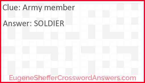 Army member Answer