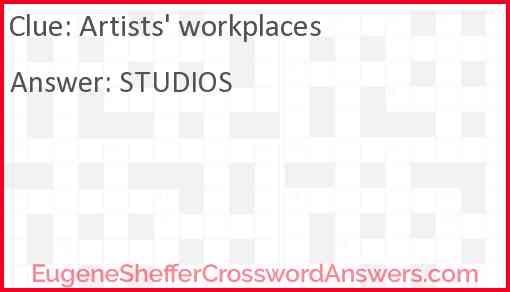 Artists' workplaces Answer