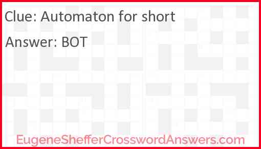 Automaton for short Answer