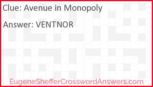 Avenue in Monopoly Answer