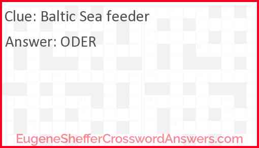 Baltic Sea feeder Answer
