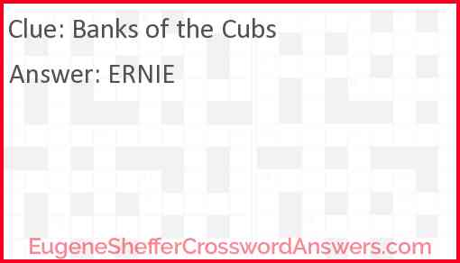 Banks of the Cubs Answer