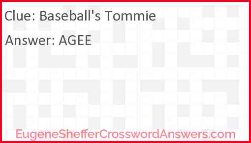 Baseball's Tommie Answer