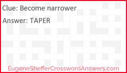 Become narrower Answer