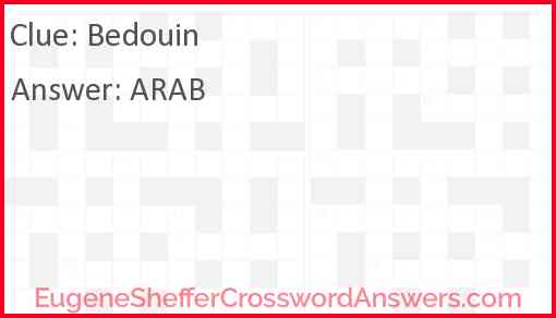 Bedouin Answer