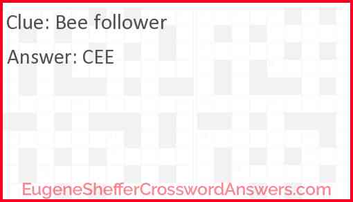 Bee follower Answer