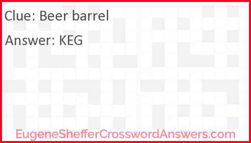 Beer barrel Answer