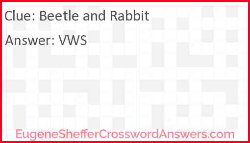 Beetle and Rabbit Answer