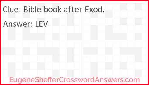 Bible book after Exod. Answer