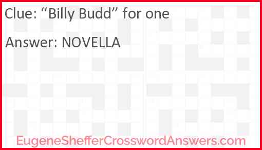 """""""Billy Budd"""" for one Answer"""
