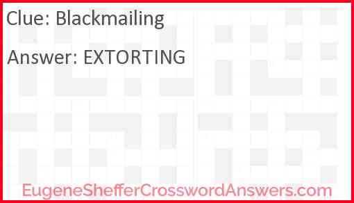 Blackmailing Answer