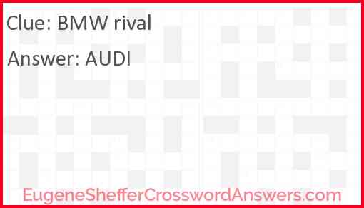 BMW rival Answer