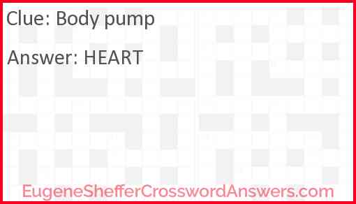 Body pump Answer