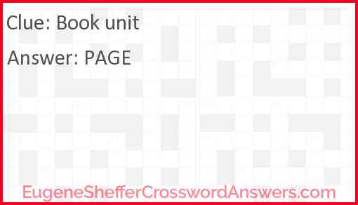 Book unit Answer