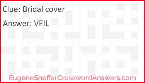 Bridal cover Answer