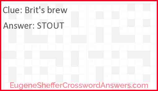 Brit's brew Answer