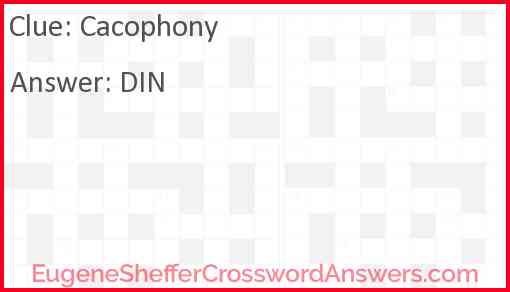 Cacophony Answer