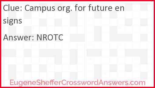 Campus org. for future ensigns Answer