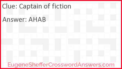 Captain of fiction Answer
