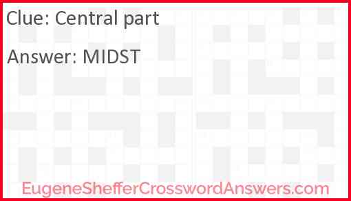 Central part Answer