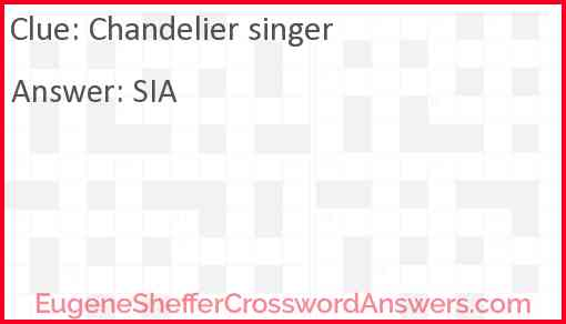 """Chandelier"" singer Answer"