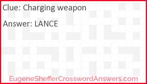 Charging weapon Answer