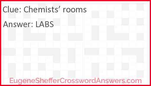 Chemists' rooms Answer