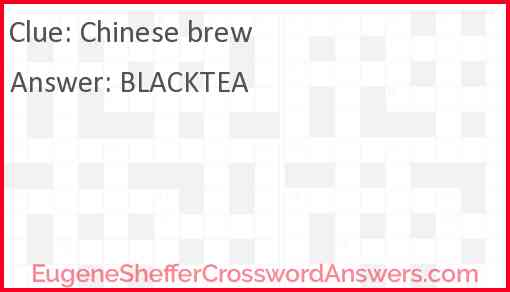 Chinese brew Answer