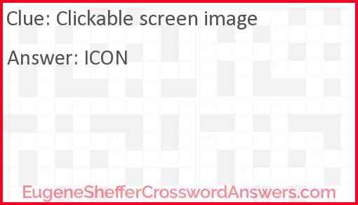 Clickable screen image Answer