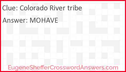 Colorado River tribe Answer