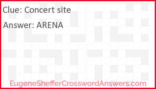 Concert site Answer