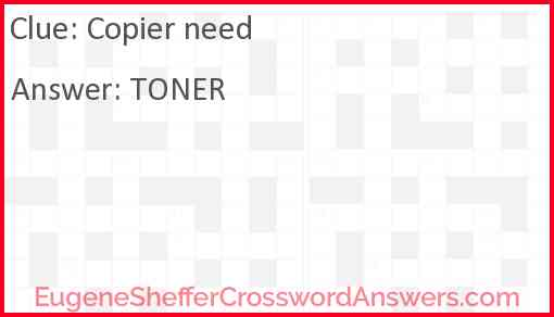 Copier need Answer