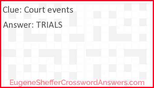 Court events Answer