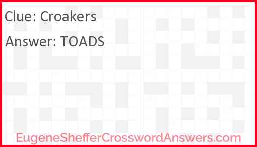 Croakers Answer