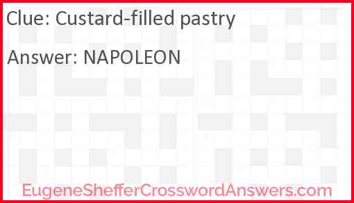 Custard-filled pastry Answer